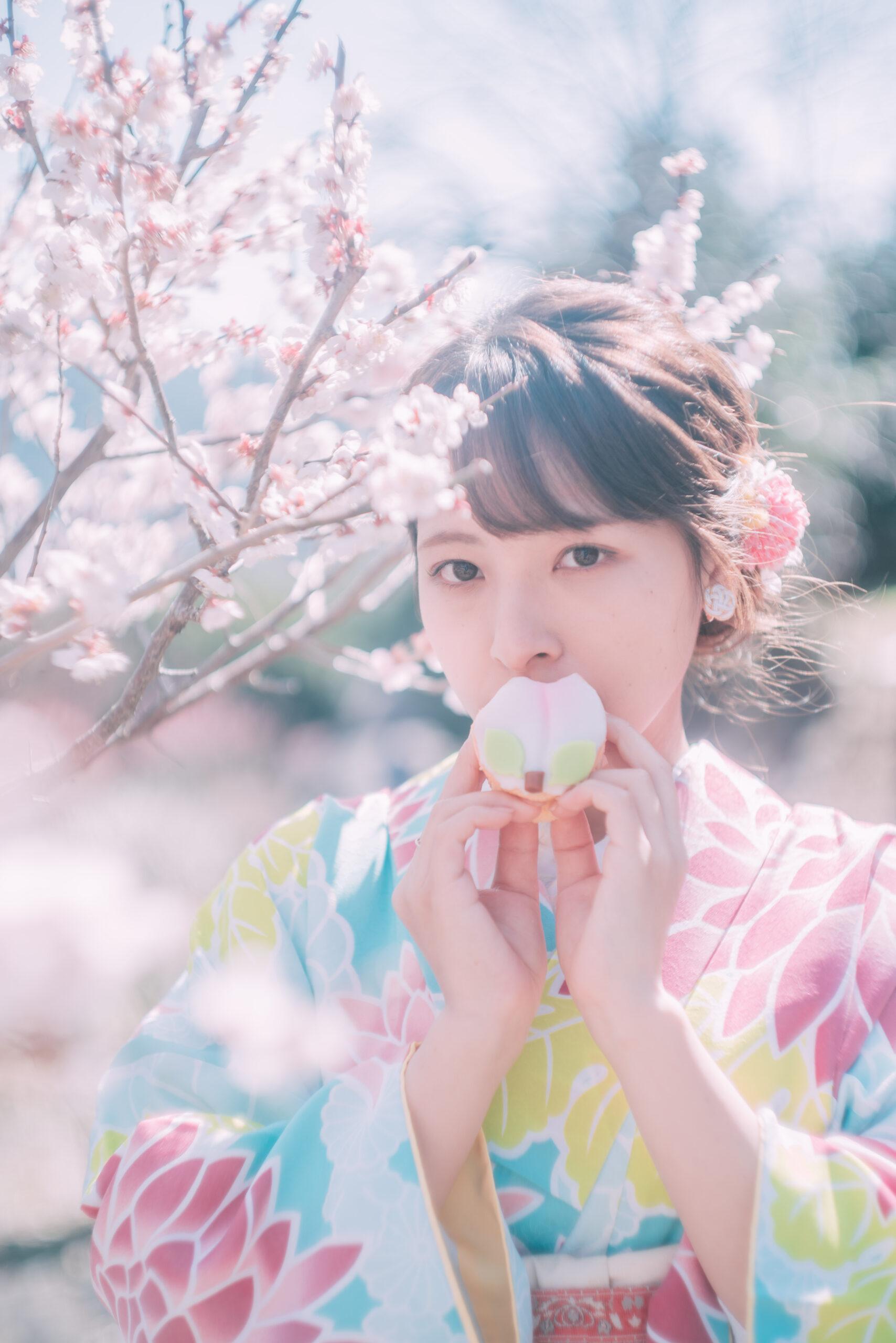 長崎 河津桜 ポートレート2