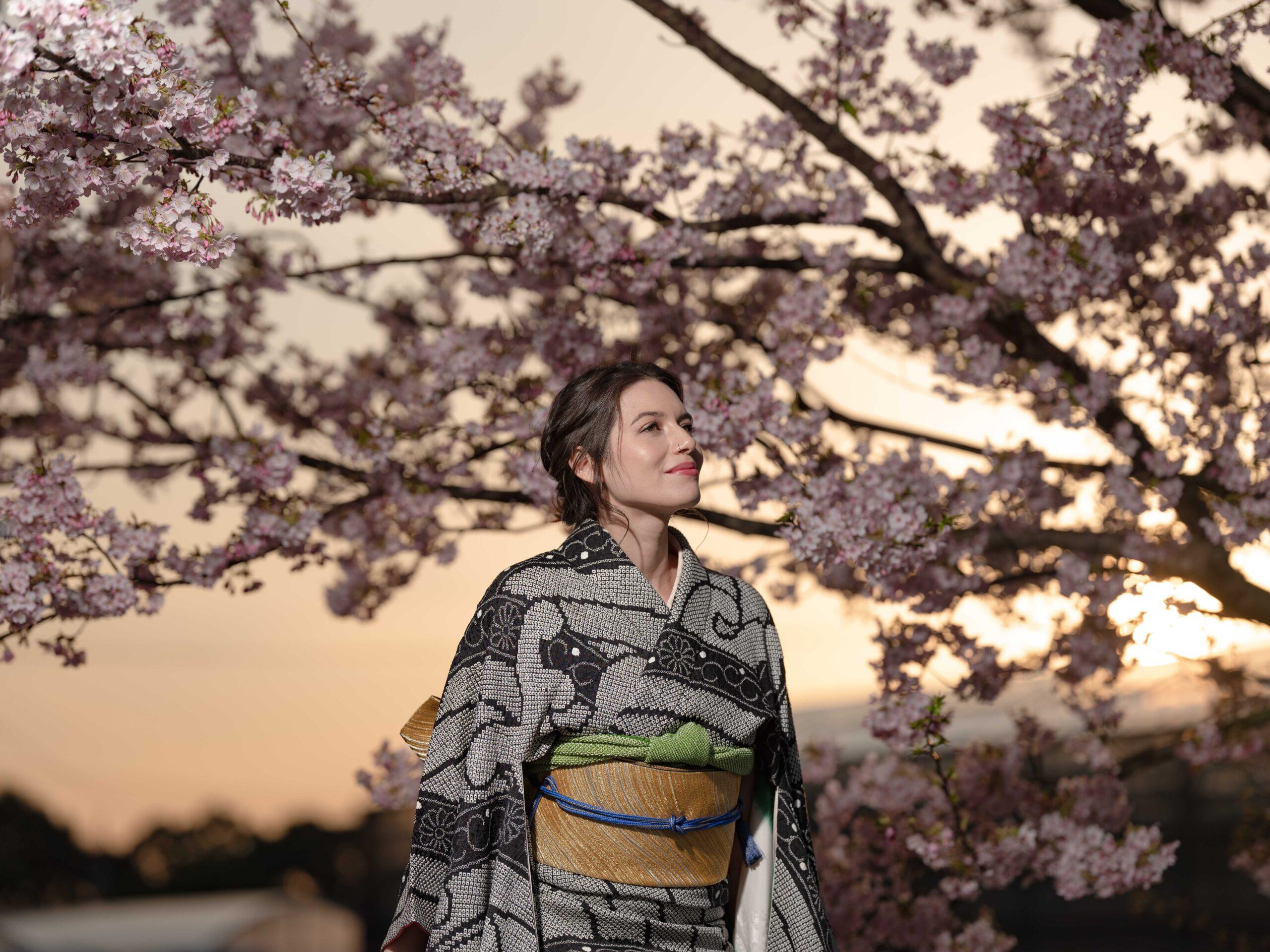 長崎 河津桜 ポートレート