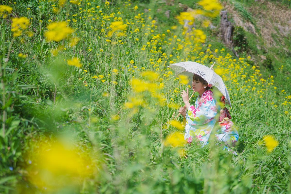 長崎 ポートレート ロケーション 虎馬園 菜の花